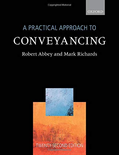 9780198860372: A Practical Approach to Conveyancing