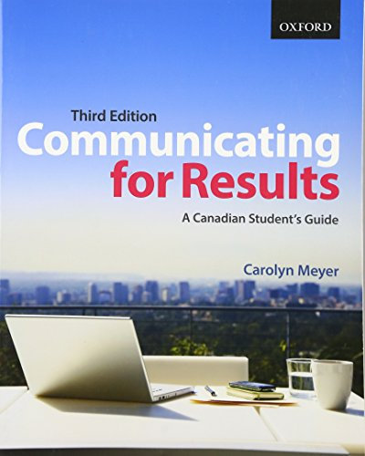 9780199001316: Communicating for Results: A Canadian Student's Guide