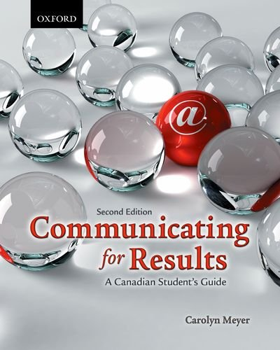 9780199004003: Communicating for Results: A Canadian Student's Guide 2e / Making Sense 7e Pack