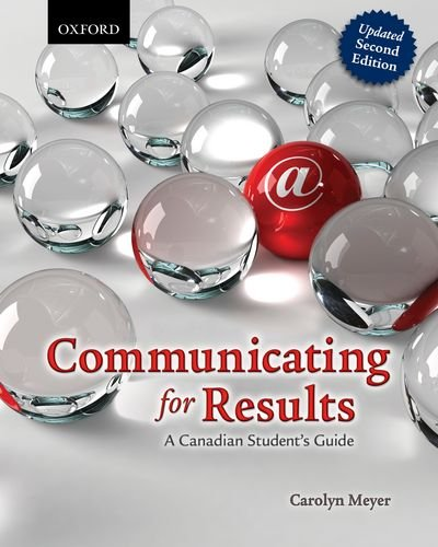 9780199006304: Communicating for Results: A Canadian Student's Guide