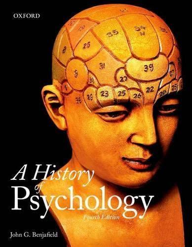 9780199007929: A History of Psychology
