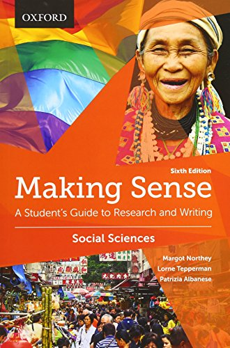 9780199010196: Making Sense in the Social Sciences: A Student's Guide to Research and Writing