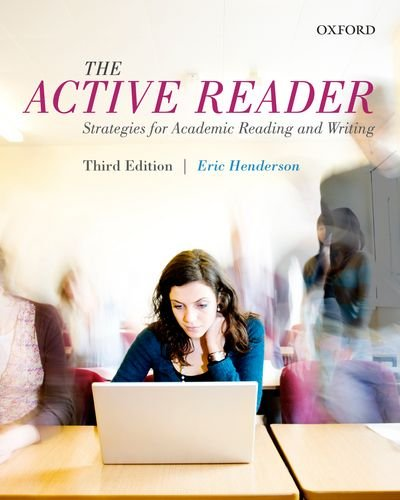 9780199012459: The Active Reader: Strategies for Academic Reading and Writing