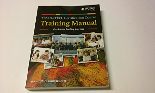 9780199012688: TESOL/TEFL Certification Course Training Manual