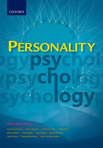 Personality Psychology: Nicholas, Lionel J.