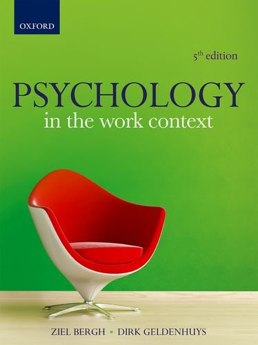 9780199048069: Psychology in the Work Context