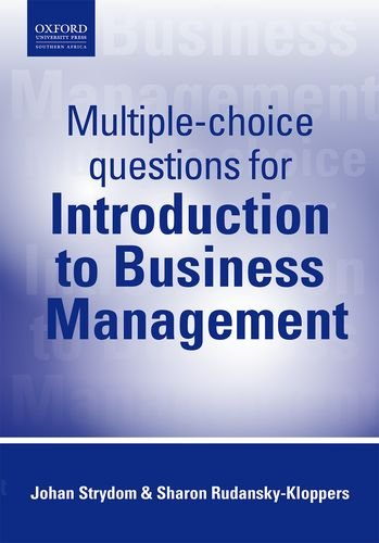 Multiple Choice Questions for Introduction to Business: Strydom, Johan; Rudansky-Kloppers,