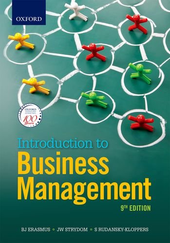 Introduction to Business Management 9/e (Paperback): Rudansky-Kloppers, S; Erasmus,