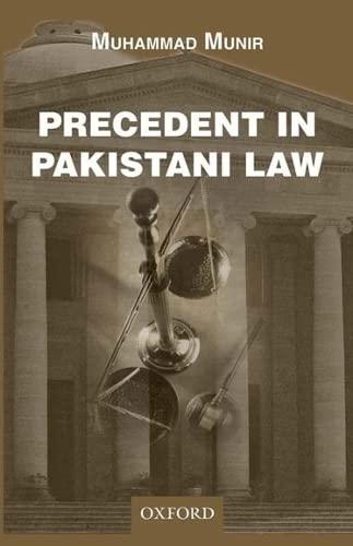 9780199068241: Precedent in Pakistani Law