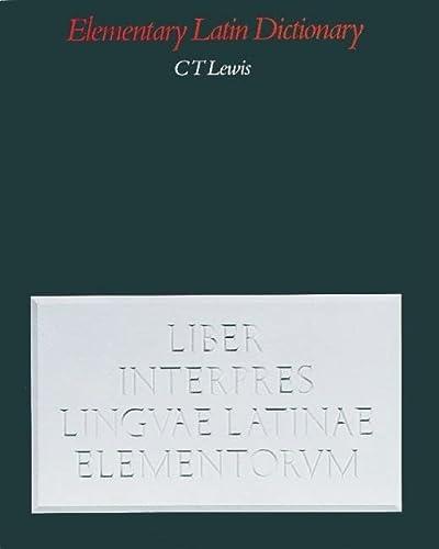 9780199102051: Elementary Latin Dictionary