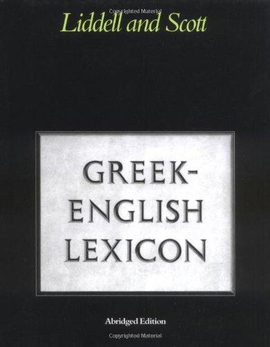 9780199102075: Greek-English Lexicon (Greek and English Edition)