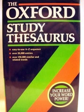9780199102327: Oxford Study Thesaurus