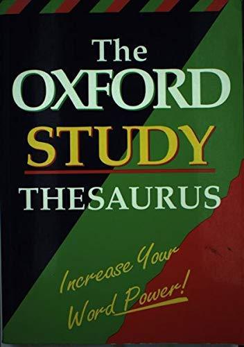 9780199103164: Oxford Study Thesaurus