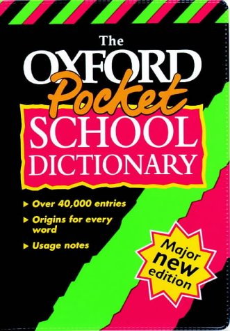 9780199103829: OXFORD POCKET SCHOOL DICTIONARY F