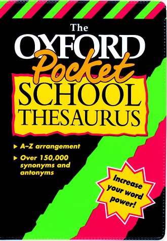 9780199106820: Pocket School Thesaurus