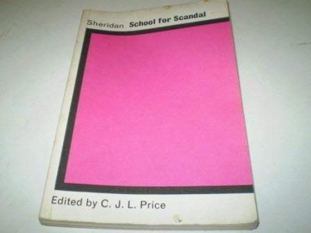 9780199110087: The School for Scandal