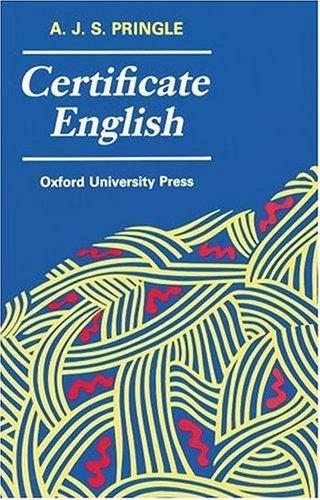 9780199111046: Certificate English