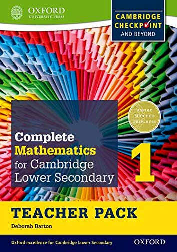 Complete Mathematics for Cambridge Lower Secondary Teacher Pack 1: For Cambridge Checkpoint and ...
