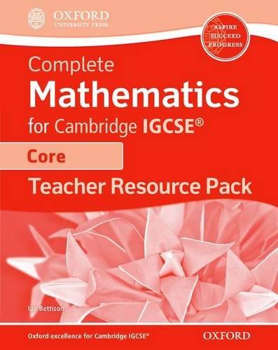 9780199138739: Core Mathematics For Cambridge Igcse. Teacher's Resource Pack