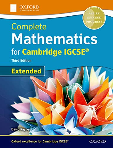 Extended mathematics for cambridge IGCSE. Per le: David Rayner