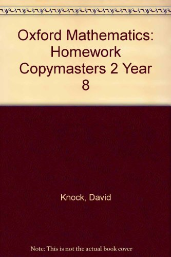 Oxford Mathematics: Homework Copymasters 2 Year 8 (0199147183) by David Knock; Phil Hill