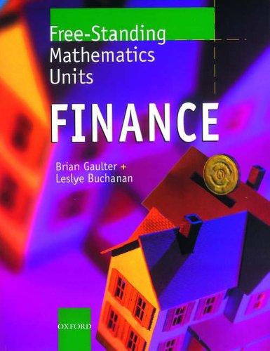 9780199147977: Free Standing Mathematics Units: Finance Bk.1 (Free-standing mathematics units)