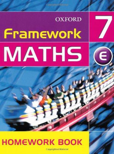 9780199148837: Framework Maths: Year 7: Framework Maths Yr 7 Extension Homework Book: Extension Homework Book Yr. 7 (Framework Maths Ks3)