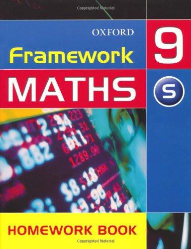 9780199148936: Framework Maths: Support Homework Book Year 9