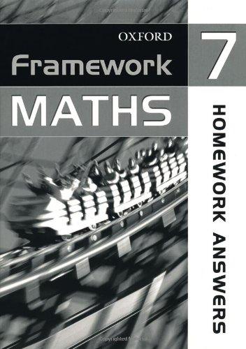 9780199149308: Framework Maths: Homework Answer Book Year 7