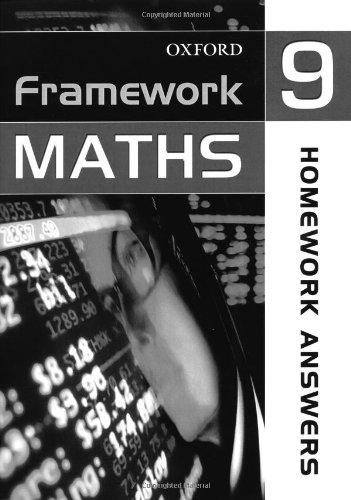 9780199149810: Framework Maths: Year 9: Homework Answers: Homework Answer Book Year 9