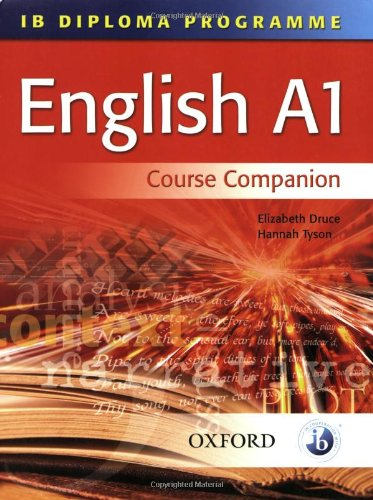 9780199151479: IB English A1 Course Book: For the IB Diploma (IB Diploma Program)