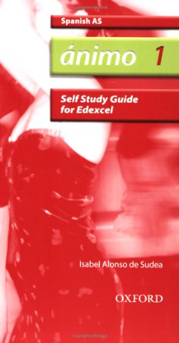 9780199153824: Ánimo: 1: AS Edexcel Self-Study Guide with CD-ROM (Animo)