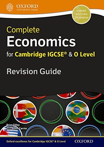 9780199154869: Economics for Cambridge IGCSERG and O Level Revision Guide (Igcse & O Level Revision Guide)