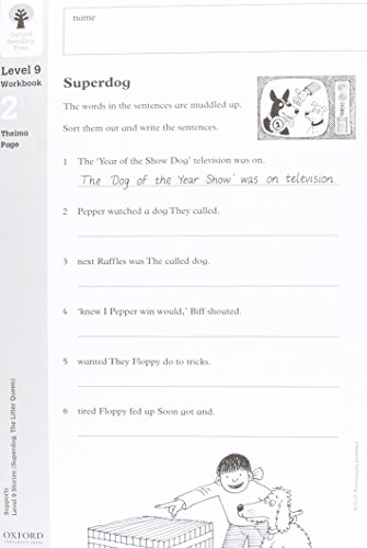 9780199167760: Oxford Reading Tree: Level 9: Workbooks: Workbook 2: Superdog and The Litter Queen (Pack of 30)