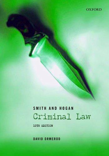 9780199202584: Smith and Hogan Criminal Law