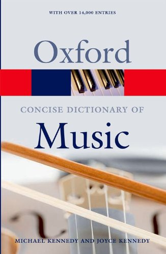 9780199203833: The Concise Oxford Dictionary of Music (Oxford Paperback Reference)