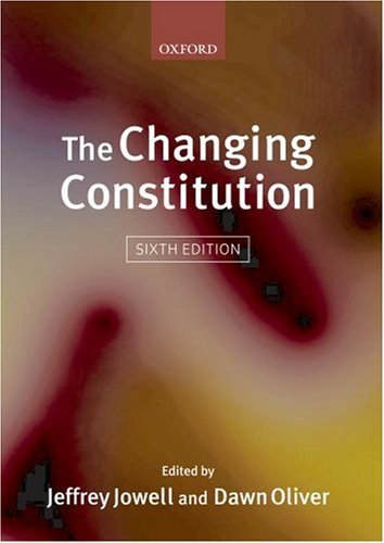9780199205110: The Changing Constitution