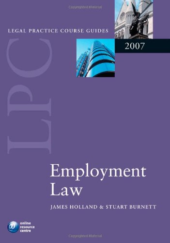 9780199205462: Employment Law (Blackstone Legal Practice Course
