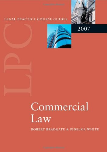 9780199205479: Commercial Law (Blackstone Legal Practice Course Guide)