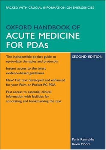 9780199205844: Oxford Handbook of Acute Medicine for PDA (Oxford Handbooks Series)