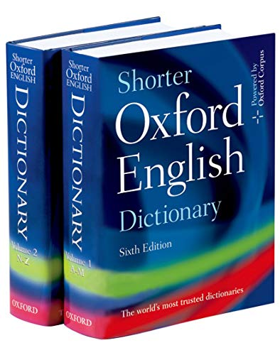 9780199206872: Shorter Oxford English Dictionary - Sixth Edition (set of 2 books)