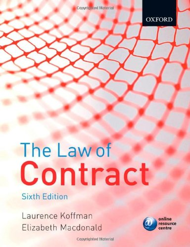 9780199207152: The Law of Contract