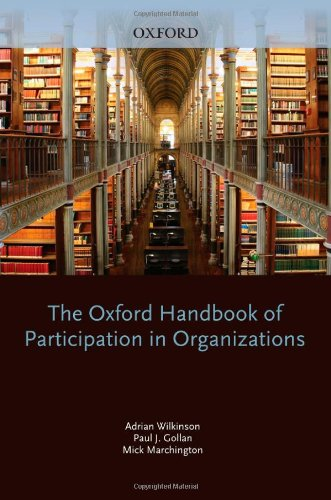 9780199207268: The Oxford Handbook of Participation in Organizations