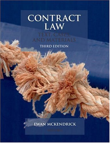 9780199208012: Contract Law: Text, Cases, & Materials: Text, Cases, and Materials