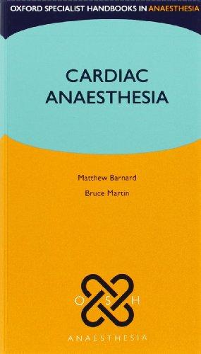 9780199209101: Cardiac Anaesthesia (Oxford Specialist Handbooks in Anaesthesia)