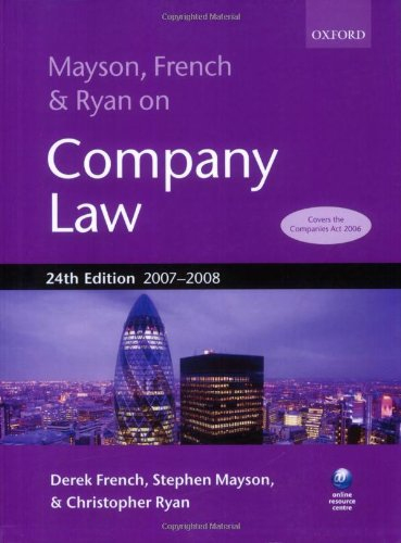 9780199210817: Mayson, French and Ryan on Company Law