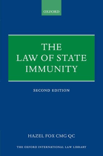 9780199211104: The Law of State Immunity (Oxford International Law Library)