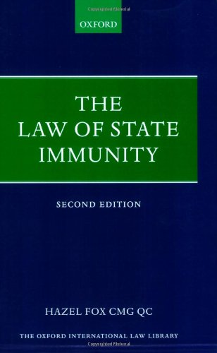 9780199211111: The Law of State Immunity (Oxford International Law Library)