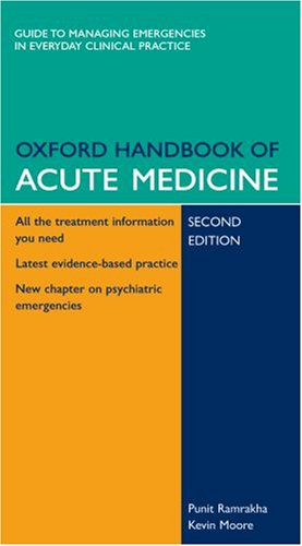 9780199211227: Oxford Handbook of Acute Medicine: Book and PDA Pack (Oxford Handbooks Series)