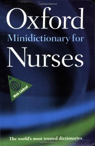 9780199211784: Minidictionary for Nurses (Oxford Quick Reference)
